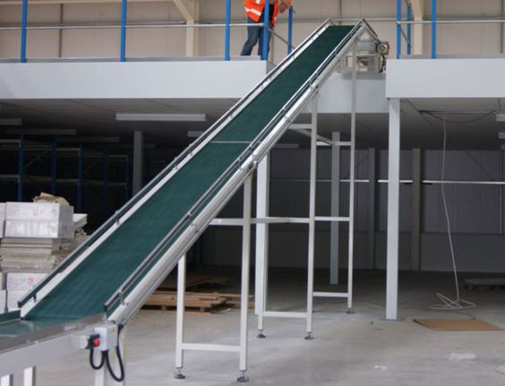 inclined belt conveyors with rough top belt